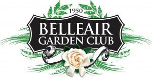 "Belleair Garden Club Logo that reads ""1950 Belleair Garden Club"" and has a rose on the bottom"