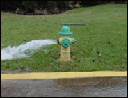 Open fire hydrant