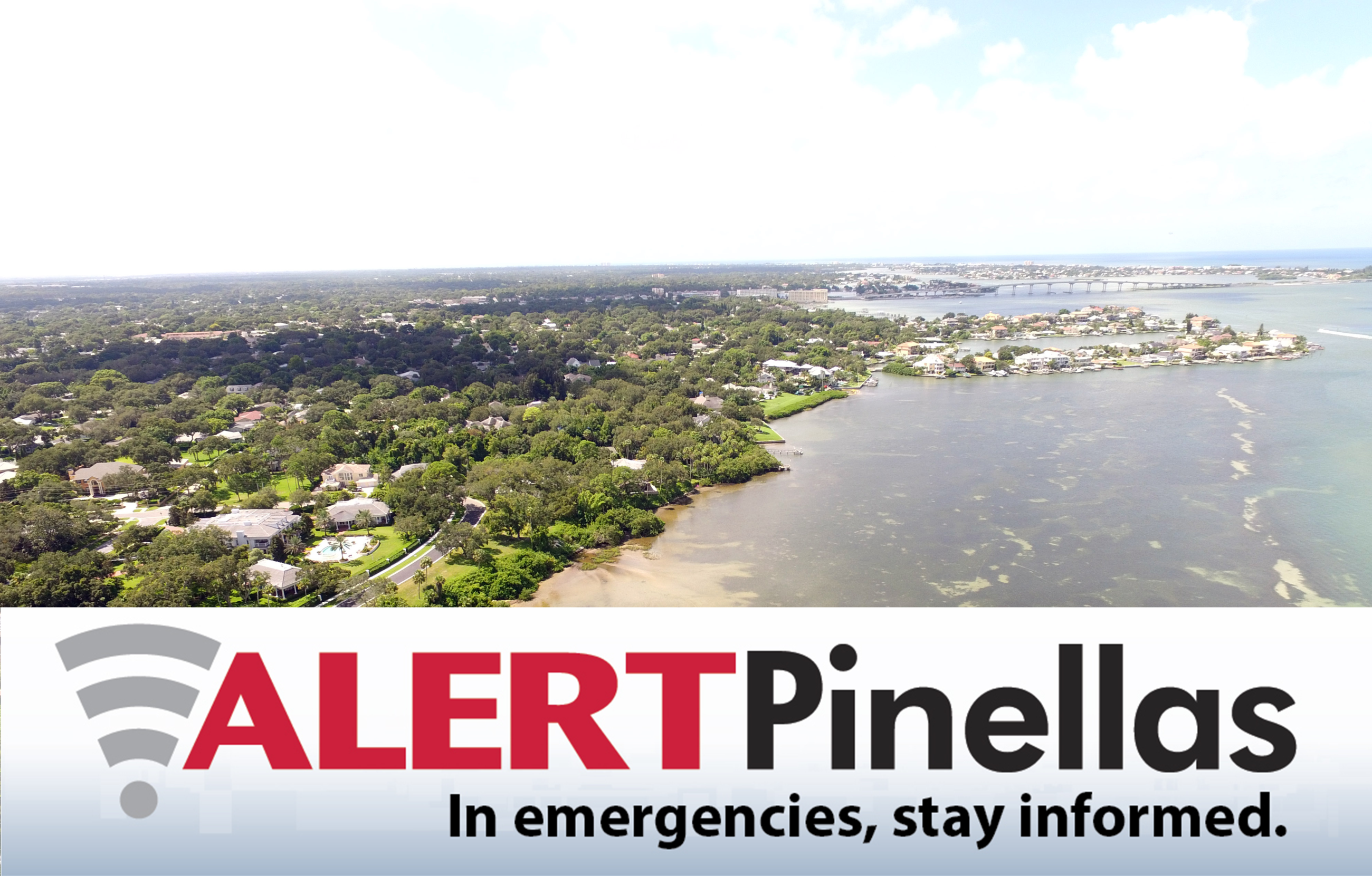 "Advertisement: ""In emergencies, stay informed with Alert Pinellas"""